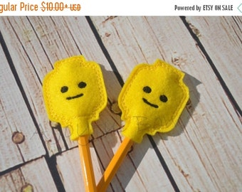 SALE Lego head pencil toppers