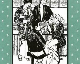 Folkwear Japanese Hapi and Haori (Shopcoat and Jacket), Tabi Slipper-Socks Sewing Pattern # 129 Men & Women sizes S-L