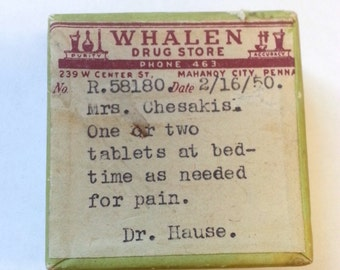 Prescription Boxes Etsy