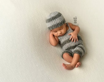 SALE! -%50 Knit baby dungarees,Knit set,newborn dungarees,photo prop dungarees,knitting,knit dungarees,stripped dungarees