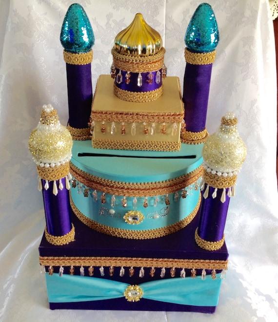 Castle card box arabian nights card box princess card box for Arabian cake decoration