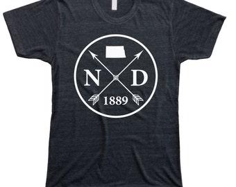 Homeland Tees Men's North Dakota Arrow T-Shirt