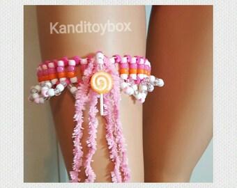 Lollipop kandi garter rave outfit edm festival