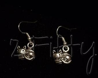Cat Earrings Nickle Free Kitty Pet Family Love Purr