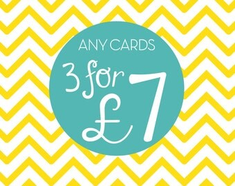 Any 3 Greeting Cards, Pick and Mix, Choose any 3 designs