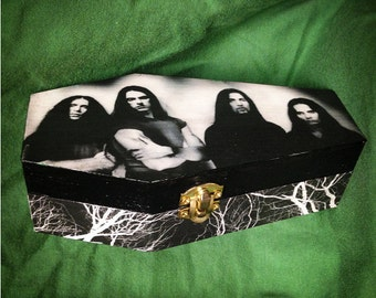 Type O Negative - Wood Coffin Keepsake Trinket Stash Box - Peter Steele