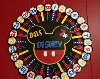Disney Countdown Calendar, Days 2 Disney Countdown Calendar, Mickey Mouse Calendar, 30 days, Disney Vacation