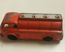 On Sale Hubley Bright Orange Fuel Truck #4061  Classic Toy Collectible with Original Wheels and Paint