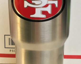 San Fransisco 49ers Decal for  Yeti Tumbler with Name