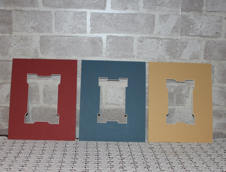 Set Of Three 8 X 10 Acid Free Modern Artistic Cut Photo