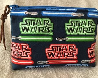 Star Wars Lightsabers Zipper Pouch/Makeup Bag with Interior Pockets