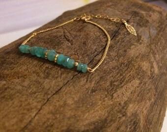 Beaded bracelet   bracelet woth stones   gold filled bracelet