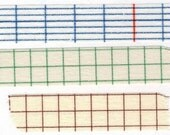 Classiky Grid Washi Tape Set -Various Widths