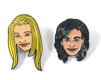 Friends: Monica and Phoebe Soft Enamel Pin Pack