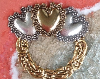 Love Love Love Eyeglass Holder Pin Brooch Loop Ring