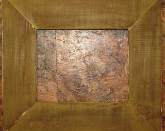 """F002 3-1/2"""" Gold Distressed Picture Frame"""