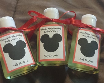 Hand sanitizer party favors, any occasions, any design, ten to an order!