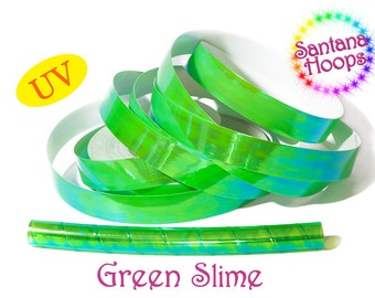 Green Slime Translucent Color Shifting Taped Performance Hula Hoop Polypro or HDPE