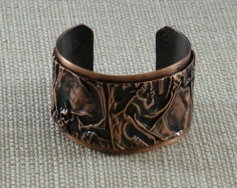 Fold Formed Copper Cuff Bracelet with the Sherman Fold