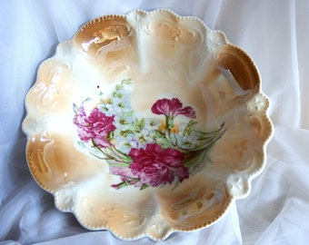 Antique Porcelain Cabinet Bowl Made in Germany  Lustre