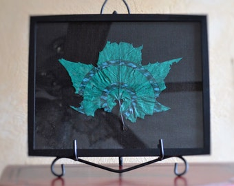 Teal We Meet Again - Painted Adirondack Maple Leaf