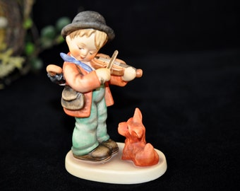 778 1970's Puppy Love, Hummel Figurine, Violin, Dog Hummel, Great Gift Idea, Paper tag, lots more in our shop, #778