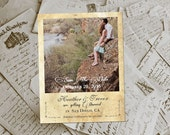 """Wedding Save The Date Magnets - HollaPark II Vintage Photo Personalized 4.25""""x5.5"""""""