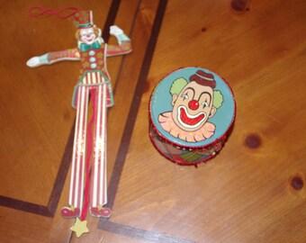 Vintage circus ornaments