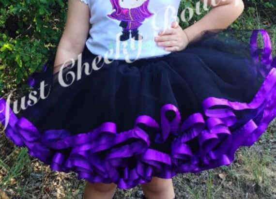 Ribbon Trim Tutu - Descendants Inspired Tutu - Halloween Tutu - Purple and Black Tutu - Ursula Tutu - Maleficent Tutu
