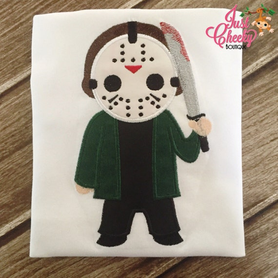 Jason Voorhees Shirt - Jason Embroidered Shirt - Friday the 13th Shirt - Camp Crystal Lake - Horror Movie - Scary Movie