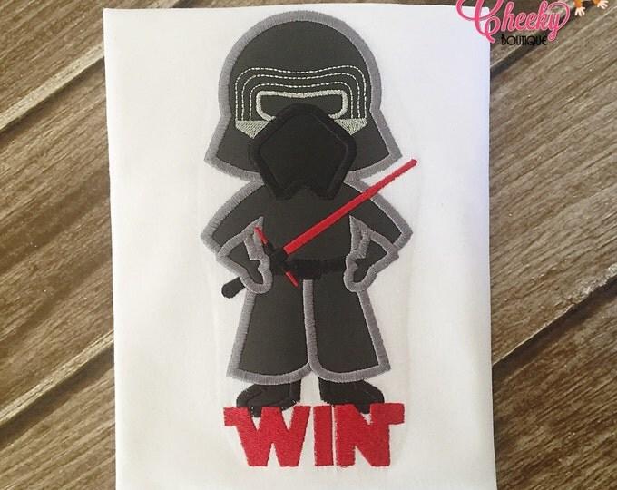 Kylo Ren - Star Wars Inspired - Kids Embroidered Shirt - Force Friday Shirt - Star Wars Birthday Shirt