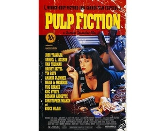 Pulp Fiction - Digitally Restored & Retouched Poster from the Movie