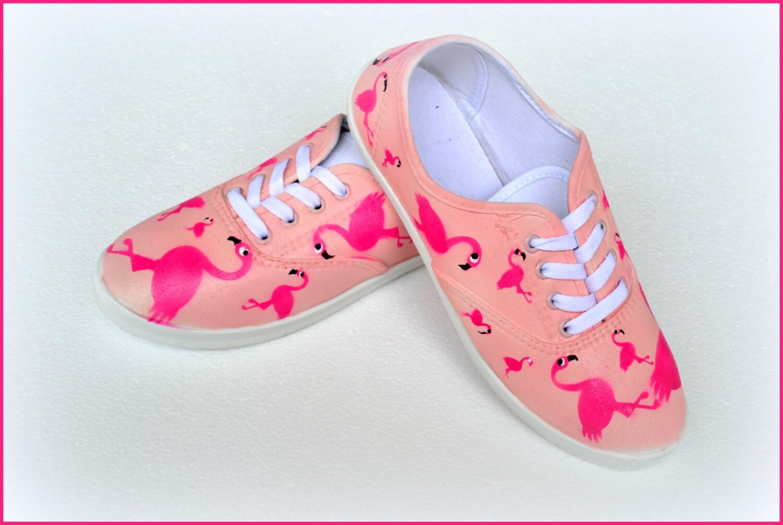 Flamingo Shoes Custom Painted Shoes Flamingos Girls Shoes