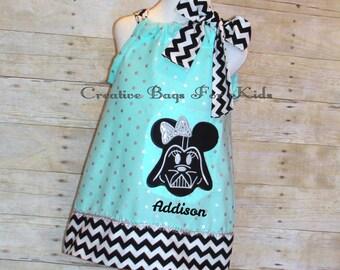 Star Wars Dress/ Darth Vader Dress/ Star Wars outfit/ Star Wars clothing/ Star Wars Birthday Dress/ Birthday dress (matching bag available)