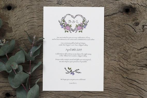 Native American Wedding Invitations: Native Flower Wedding Invitations By DeerDaisy On Etsy