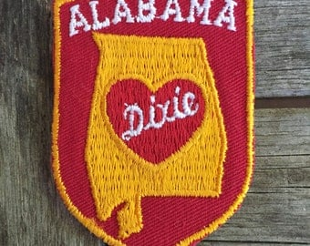 Alabama Heart of Dixie Vintage Souvenir Travel Patch by Voyager