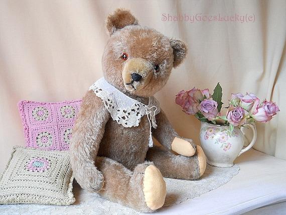 Large German Vintage Teddy Bear 1950s Bernhard Hermann Teddy