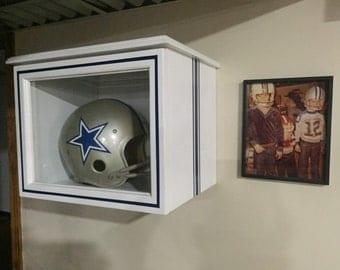 Helmet Display Case (custom colored with pinstripes) vintage