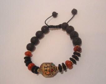 FREE SHIPPING Bead bracelet Tibetan bracelet Lava stone bracelet Enter coupon code FREESHIP16 at checkout