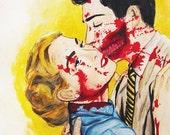 Zombie Couple Print