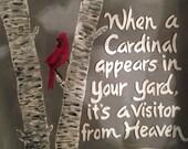 Acrylic Cardinal heaven painting-copy