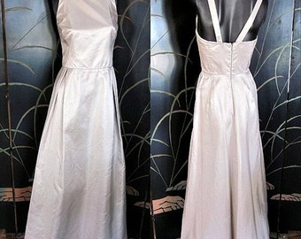Love Sale 25% off MAXMARA Silver Gown Maxi Dress / Pianoforte made in Italy / fits XS / Bridal Wedding
