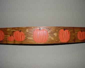Pumpkin Handpainted Wine Barrel Staves, Harvest, Fall Decor, Home Decor, Halloween, Thanksgiving, Autumn