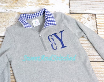 "Shop ""monogramed pullover"" in Boys' Clothing"