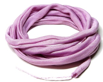 Silk Ribbon Elastic - Hand Dyed - Jersey - PEARL