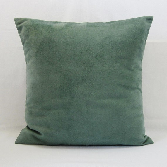 Forest Green Throw Pillow : Spruce Forest Green Suede Pillow Cover Decorative Accent Throw