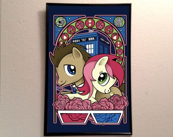"""Doctor Whooves and Roseluck 11x17"""" Poster Print"""