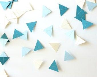 Geometric Garland, Wedding Garland, Triangle Garland, Paper Garland, Party Garland, Nursery Decor, Home Decor, Geometric Bunting, Photo Prop