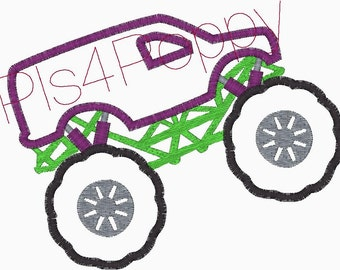instant download SUV Monster truck applique design