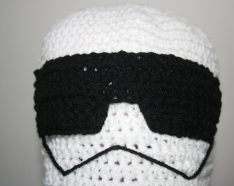 10x Storm Trooper Hats From Star Wars 'Inspired'  Crochet Beanie Hat. All sizes available.